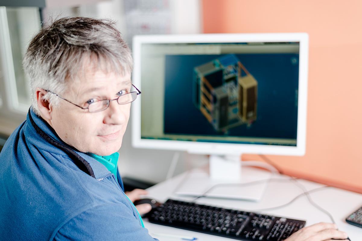 CAD Abteilung mit der Konstruktion
