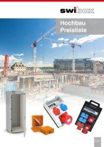 Preisliste Hochbau Stromverteiler