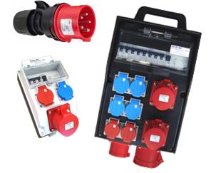Stromverteiler / Stecker / Kupplungen / Verbindungen