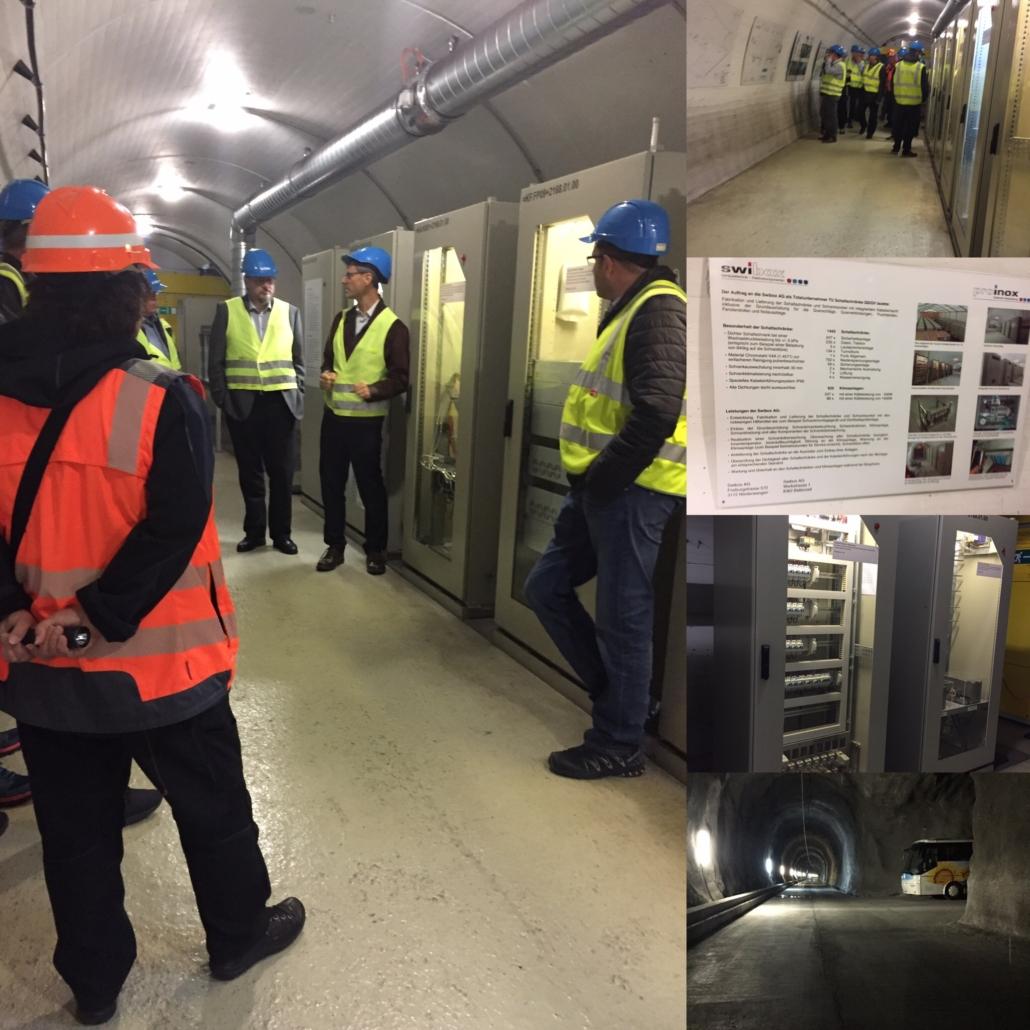 Swiss-Inox besucht an der Generalversammlung den Lötschberg Basistunnel